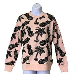 WeSC Unisex Women's Sweatshirt Pullover Crew Pink